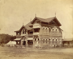[View of a temporaray medical station, Bombay.]